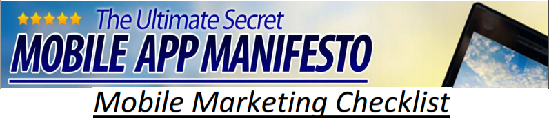 Mobile App Manifesto Check List Banner Mobile App Manifesto review